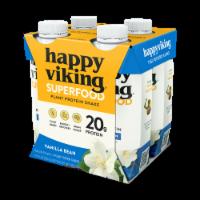 Happy Viking Vanilla Bean Plant Protein Shake - 4 ct / 11 fl oz