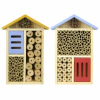 Nature's Way Better Gardens 12 in. H x 8 in. W x 3.5 in. L Wood Insect House - Case Of: 1;