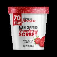 The Frozen Farmer Strawberry Sorbet Frozen Dessert