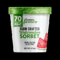 The Frozen Farmer Watermelon Sorbet Frozen Dessert