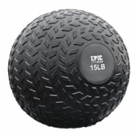 Epic Fitness Weighted Slam Ball, Grip Tread, for Exercise/Xfit, 15lb - 1 Piece