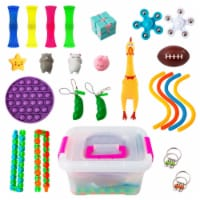 24Pcs Fidget Toy Set, Sensory Toys Pack Cheap for Kids Adults, Stress Relief and Anti-Anxiety - 1 unit