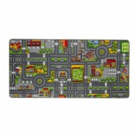 """Paradiso Toys Street carpet, 52.4"""" x 37.4"""", with Education Road and city with City Buildings - 1"""