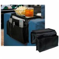 Sofa Arm Rest Organizer 5 Pocket Caddy Couch Tray Remote Control Holder Table - 1