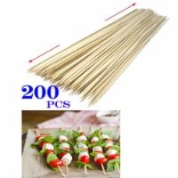 200 12inch Bamboo Skewers Wooden BBQ Stick Shish Grill Kabobs Fondue Party Grill - 1