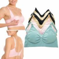 3 Pack Breastfeeding Bras Wire Free Nursing Bra Maternity Pregnant Underwear XL - 1