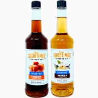 Sugar Free Vanilla and Caramel Syrup Variety Pack - Natural Flavor, Vegan, Gluten-Free
