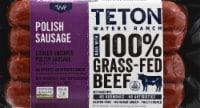 Teto Waters Ranch Cooked Uncured Polish Kielbasa Beef Sausage
