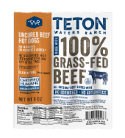 Teton Waters Ranch 100% Grass Fed Uncured Beef Hot Dogs