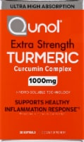 Qunol Extra Strength Turmeric Curcumin Complex Dietary Supplement Softgels 1000mg 30 Count