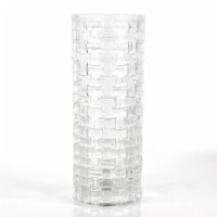 CBK Woven Around Round Glass Vase - Clear