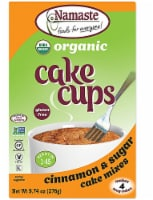 Namaste Foods  Organic Cake Cup Mix Packs Gluten Free   Cinnamon Sugar