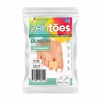 ZenToes Gel Toe Separators - Overlapping Toes, Bunion Corrector and Spacer - 4 Pack (Beige)