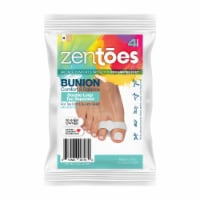 ZenToes Toe Separators with 2 Loops - Pack of 4 Soft Gel Bunion Correctors (White)