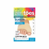 ZenToes Bunion Corrector and Bunion Relief Sleeve with Gel Bunion Pads - 1 Pair - Size Small