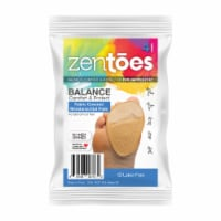ZenToes Fabric Covered Gel Inserts for High Heels, Adhesive Shoe Insoles Pain Relief - 4 Pack - 4