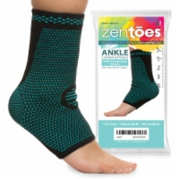 ZenToes Ankle Brace Compression Socks Open Toe Sleeves Help Reduce Swelling - 1 Pair (Small) - 2
