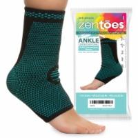 ZenToes Ankle Brace Compression Socks Open Toe Sleeves Help Reduce Swelling - 1 Pair (Medium) - 2