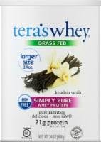 Tera's Whey Grass Fed Bourbon Vanilla Simply Pure Whey Protein - 24 oz