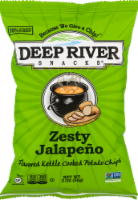 Deep River Snacks Zesty Jalapeno Kettle Cooked Potato Chips