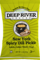 Deep River Snacks New York Spicy Dill Pickle Kettle Cooked Potato Chips