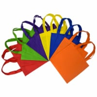 10x10 Inch Flat Reusable Gift Bags with Handles, Eco Friendly Tote Bags - Inches