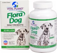 Vital Planet  Flora Dog Daily Beef Flavored Probiotic Tablets