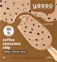 Yasso Coffee Chocolate Chip Frozen Greek Yogurt Bars (4 Pack)