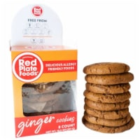 Red Plate Ginger Cookies - 8 ct / 10.5 oz