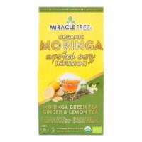 Miracle Tree Organic Moringa Superfood Energy Infusion Morigna Green Tea Ginger and Lemon Tea Bags