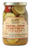 YeeHaw Pickle Co. Sweet & Spicy Stackers Bread & Butter Pickles