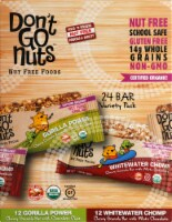 Don't Go Nuts Snack Bars Variety Pack