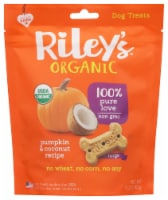 Riley's Organic Pumpkin & Coconut Recipe Dog Treats - 5 oz