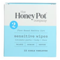 The Honey Pot Sensitive Intimate Wipes 15 Count
