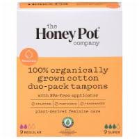 The Honey Pot 100% Organic Tampons Duo-Pack - 18 ct