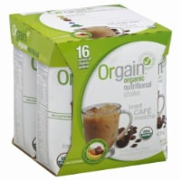 Orgain Iced Cafe Mocha Organic Nutritional Shake - 4 Boxes/11 Oz