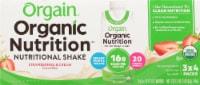 Orgain Organic Strawberries & Cream Nutritional Shake 12 Count