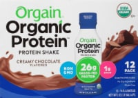 Orgain Organic Protein Nutritional Creamy Chocolate Protein Shake - 12 bottles / 14 fl oz