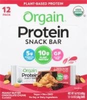 Orgain Organic Peanut Butter Chocolate Chunk Protein Snack Bars