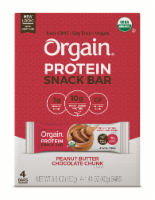 Orgain Organic Peanut Butter Chocolate Chunk Protein Snack Bar
