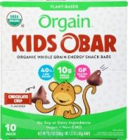 Orgain  Kids O Bar Organic Whole Grain Energy Snack   Chocolate Chip