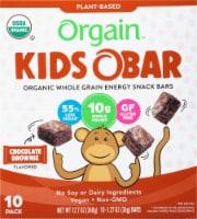 Orgain  Kids O Bar Organic Whole Grain Energy Snack   Chocolate Brownie