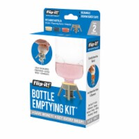 Flip-It 9041389 Gray Polypropylene Bottle Emptying Kit - Pack of 6 - 1