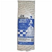 Elite  #24  Cut End  4-Ply Cotton  Mop Head  1 pk - Case Of: 6; Each Pack Qty: 1;