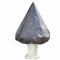 """Sunnydaze Large Tiered Fountain Protective Cover - 76"""" x 61"""" Diameter - Gray"""