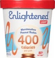 Enlightened Light Marshmellow Peanut Butter Ice Cream - 1 Pint