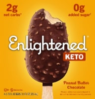 Enlightened Keto Collection Peanut Butter Chocolate Chip Ice Cream Bar