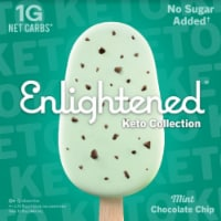 Enlightened Keto Collection Mint Chocolate Chip Ice Cream Bars