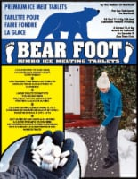 Bear Foot Jumbo Ice Melting Tablets - 25 lb