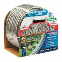 Swan Metal Garden Hose 1/2 in. Dia. x 75 ft. L Heavy-Duty Silver Stainless Steel Garden Hose - Count of: 1